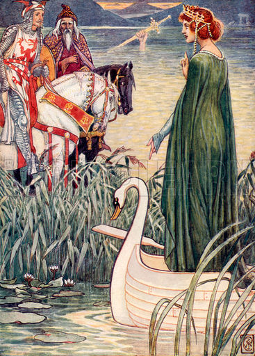 KING ARTHUR KNIGHT WOMAN AND SWAN WATER.jpg